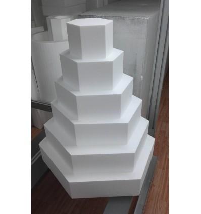 BASE CAKE DESIGN ESAGONALE DIAMETRO 40 E ALTEZZA 10