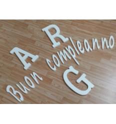 Lettere e Numeri 10x2 in Polistirolo