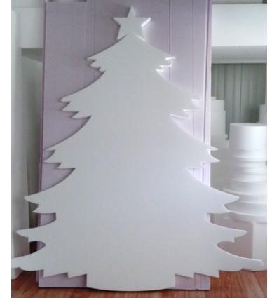 Decorazioni Natalizie Con Il Polistirolo.Albero Di Natale In Polistirolo Altezza 1 Mt Polylab