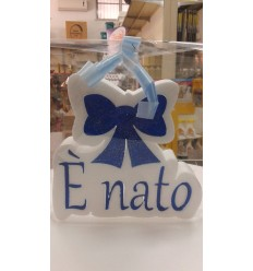 E' NATO /E' NATA scritta in polistirolo