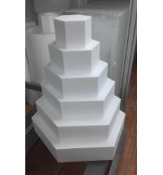 BASE CAKE DESIGN ESAGONALE DIAMETRO 50 ALTEZZA 10